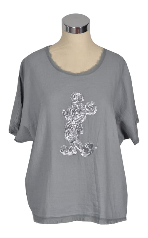 Sequin mickey mouse top