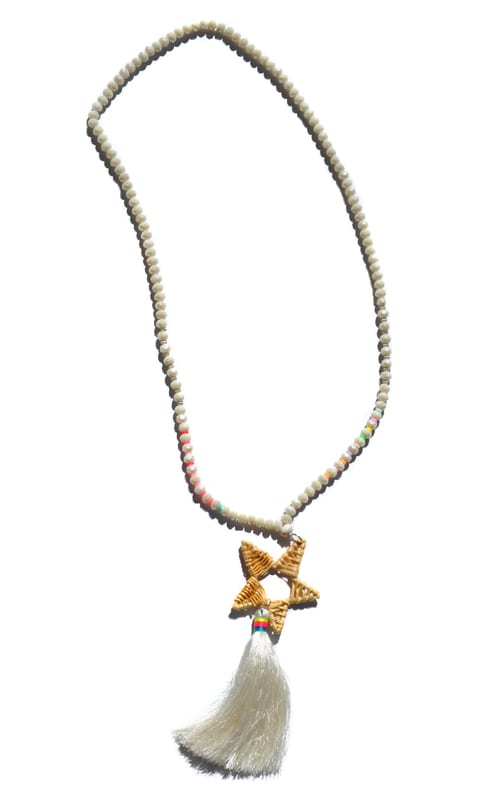 Basket star tassel necklace