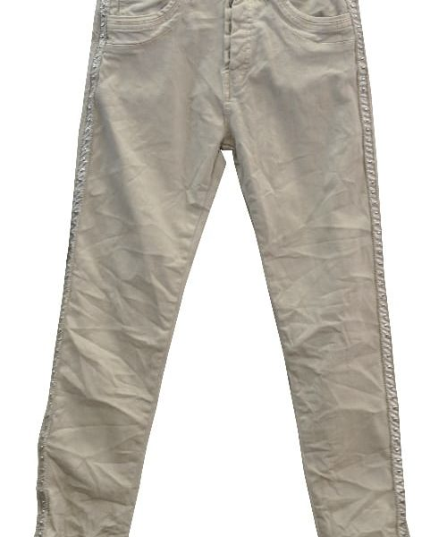 Braid trim skinny pants