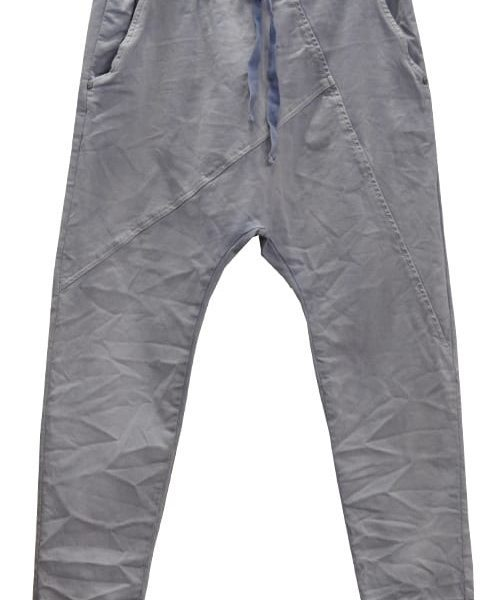Panel harem drawstring pants