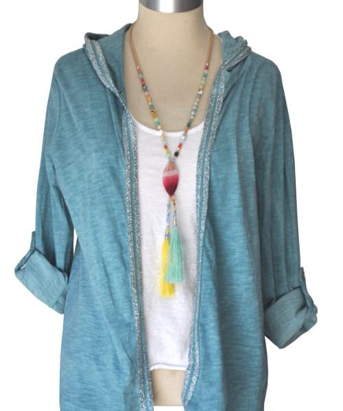 Hooded twinset cardi