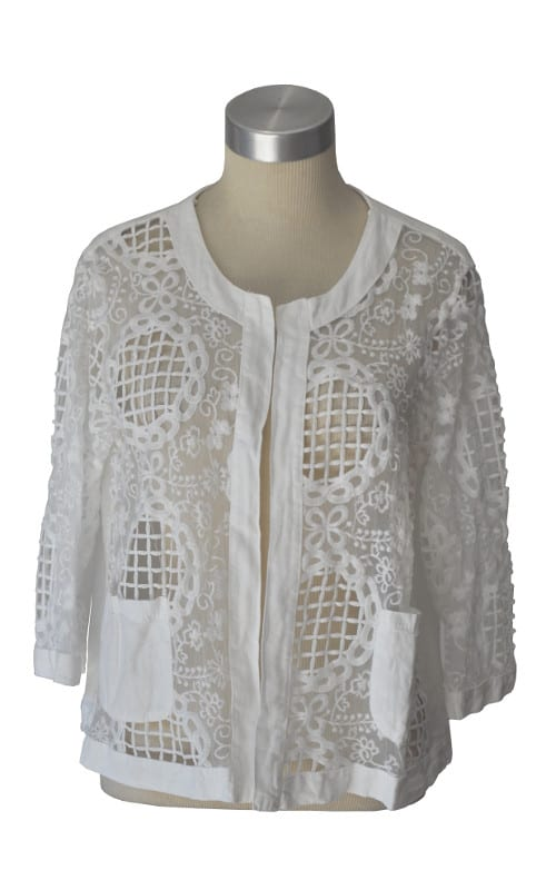 Cut out embroidered jacket