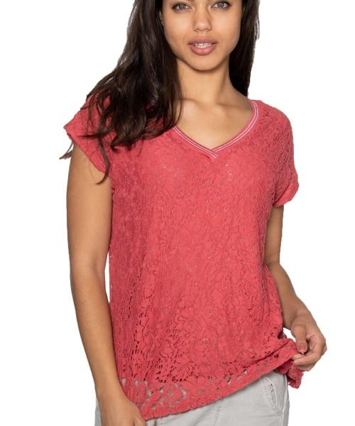 Lace v-neck t-shirt