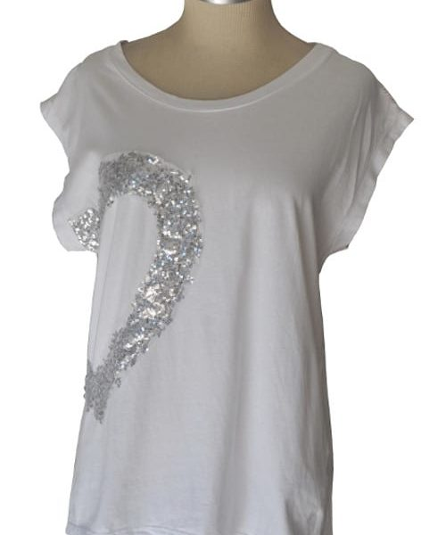 Sequin heart lace insert top