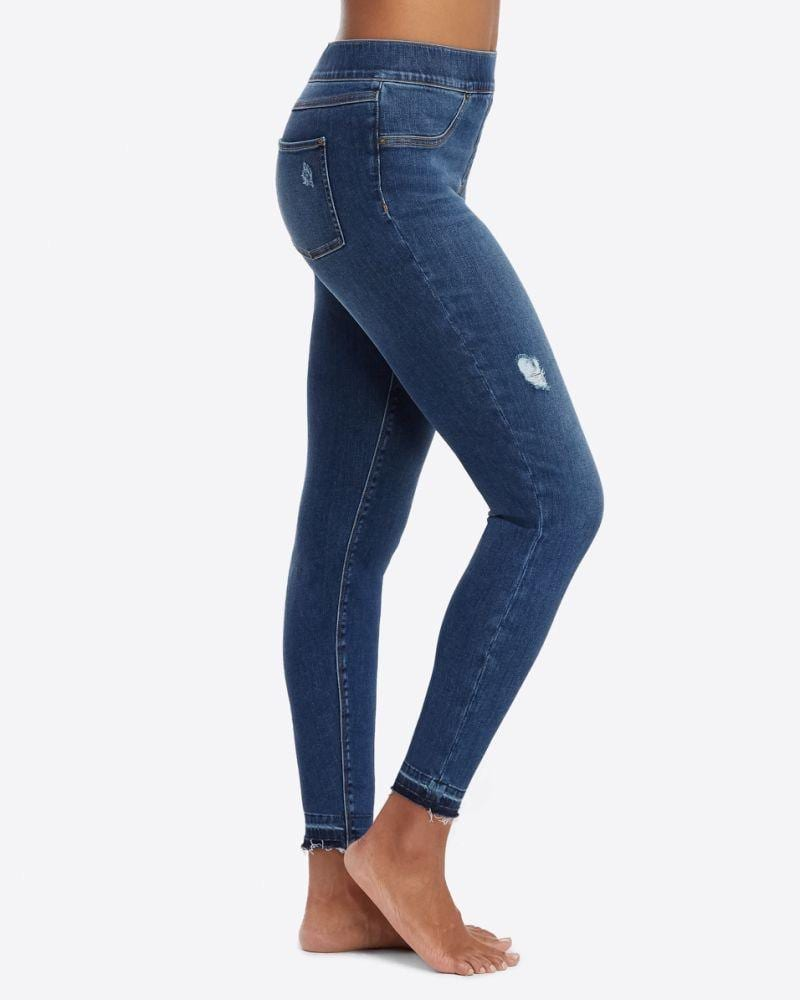 Spanx distressed jegging