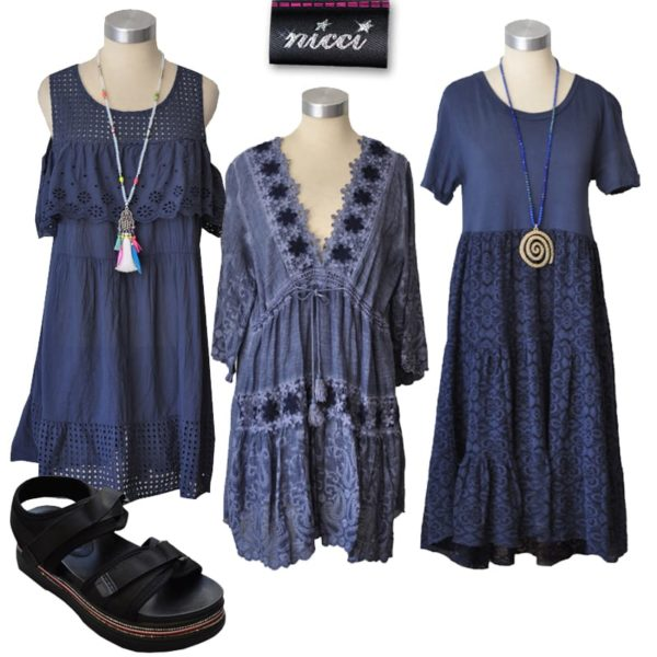 Drawstring worked lace dress