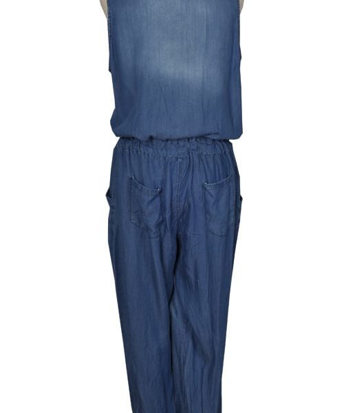 Lurex trim jumpsuit