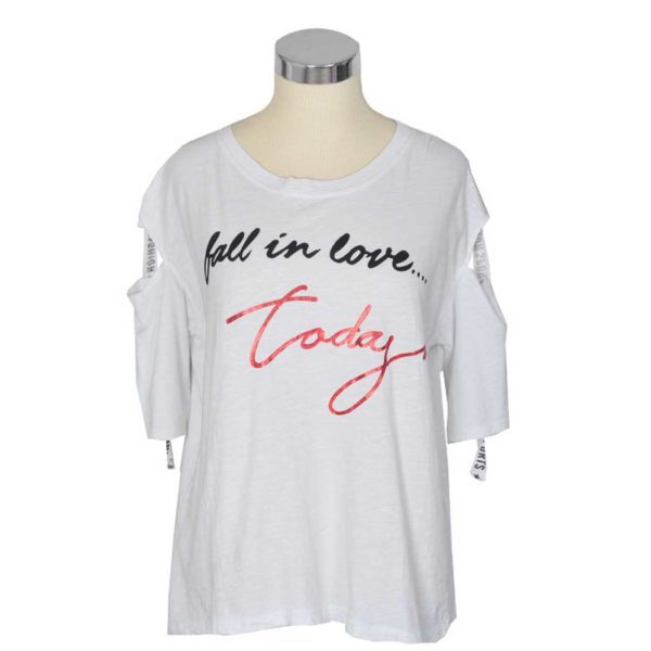 Giant fall in love print t-shirt