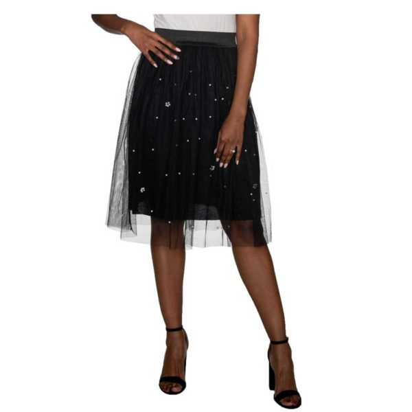 Tulle pearl studded skirt