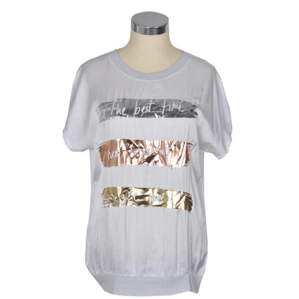 2-Textured metallic foil word top