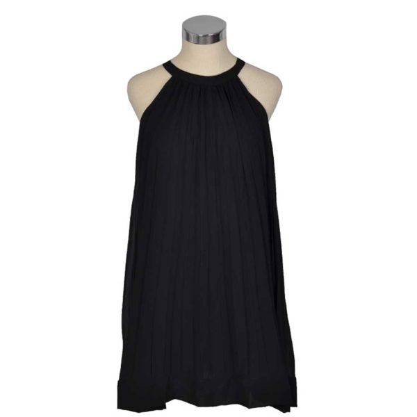 Pleated halter dress