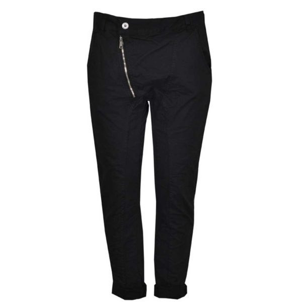 2-Textured zip pants