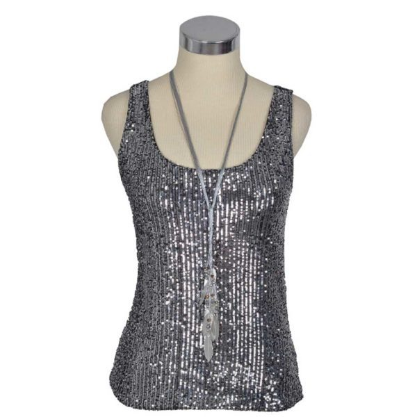 Sequin tank top