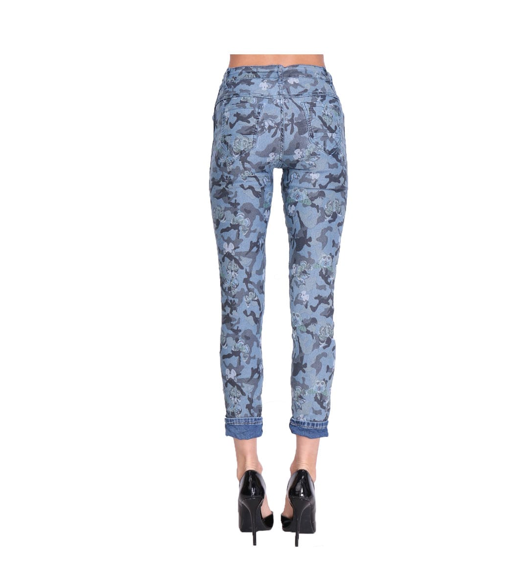Reversible butterfly camou jeans