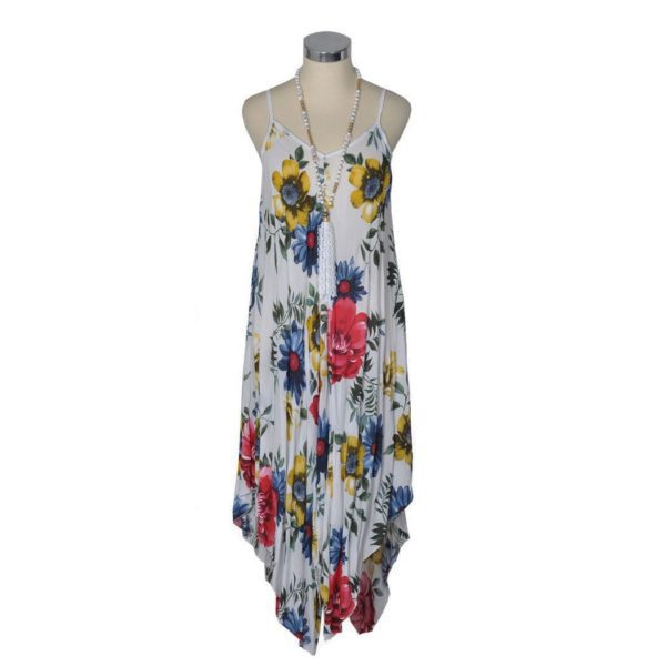 Giant floral pointy dress