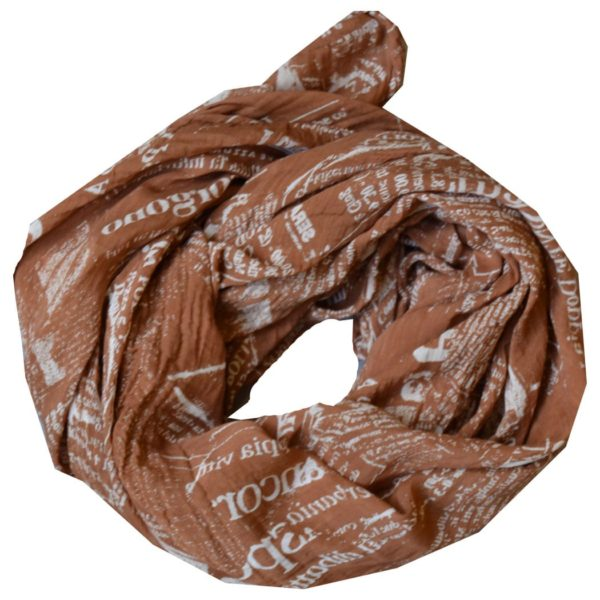 Newspaper print scarf