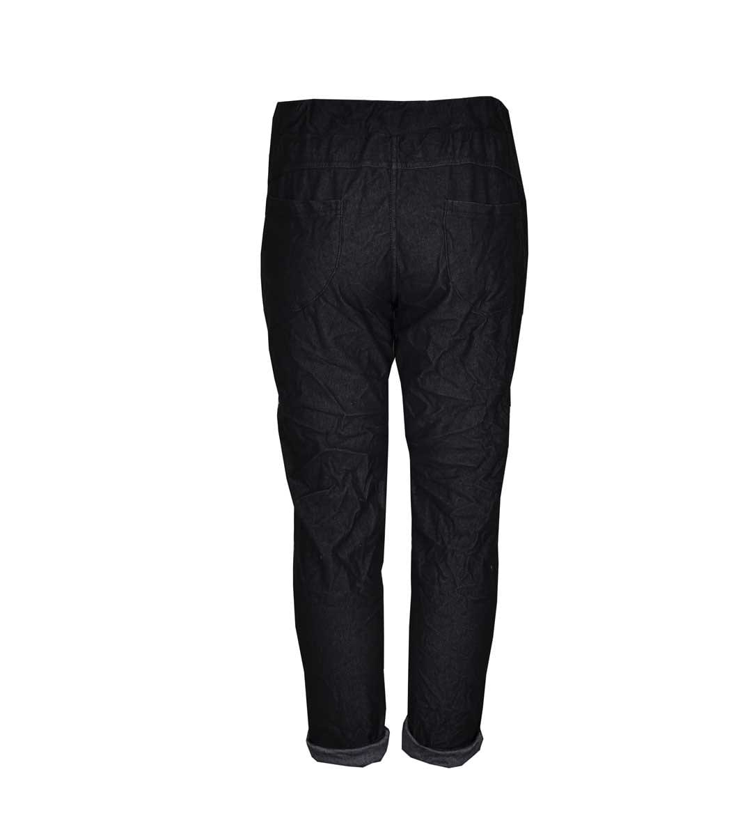 Sequin patch detailed pants