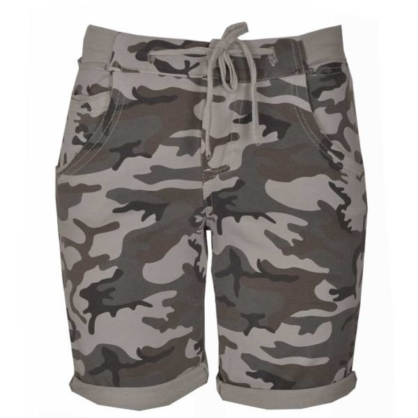 Camou track shorts