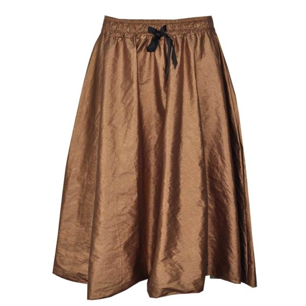 Flared PVC bronze skirt