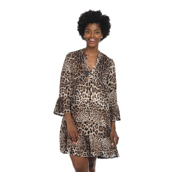 Babydoll leopard print dress