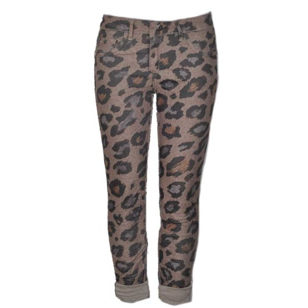 Leopard print reversible pants
