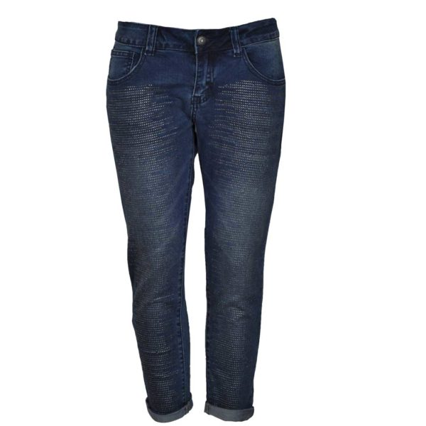 Diamante detailed jeans
