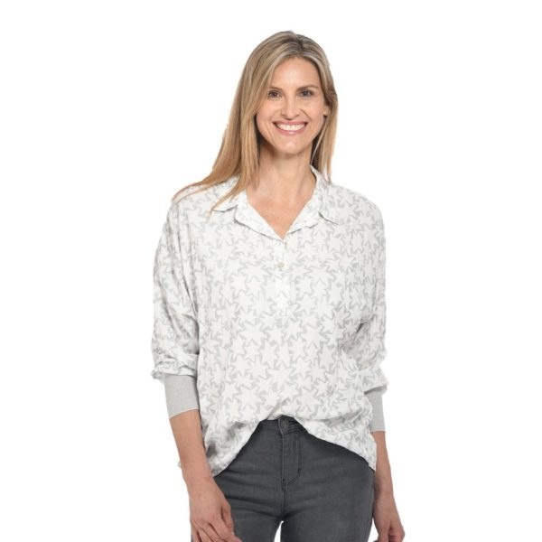 Star print plaquet shirt