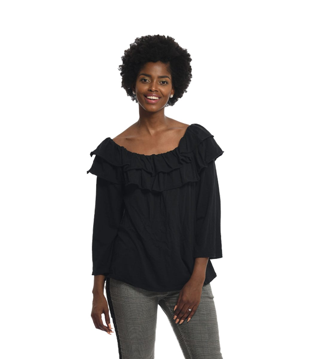 Double neck frill top