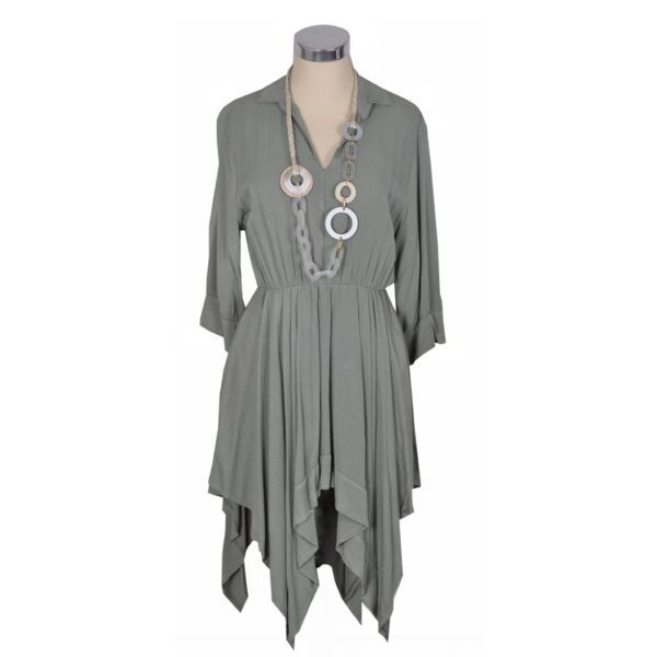 Pointy shirt dress