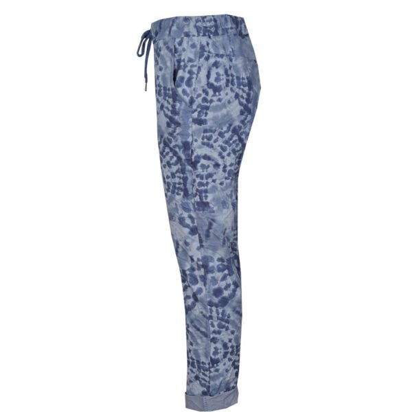 Printed drawstring pants