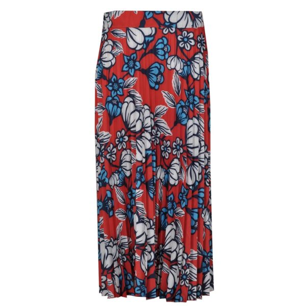 Giant floral pleated skirt