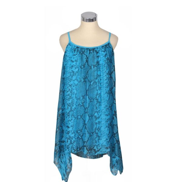 Silk snake print swing tunic