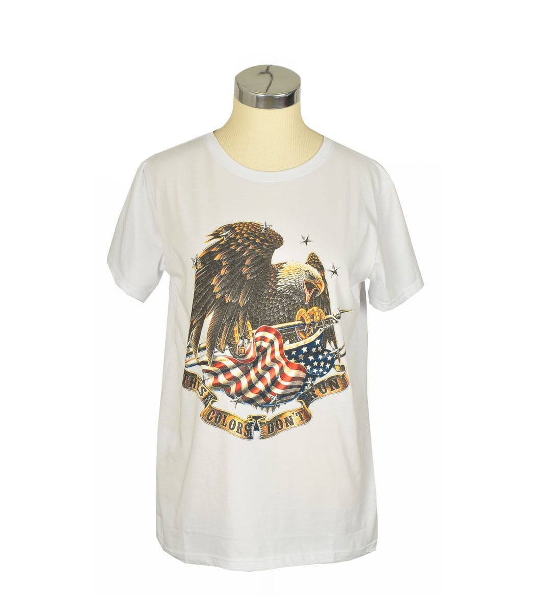 Flag Eagle print t-shirt