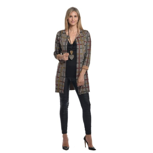 Houndstooth unlined jacket