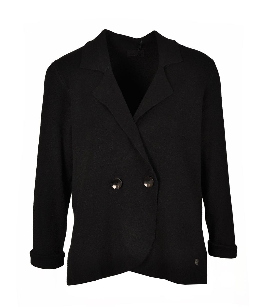 Double breasted knit blazer