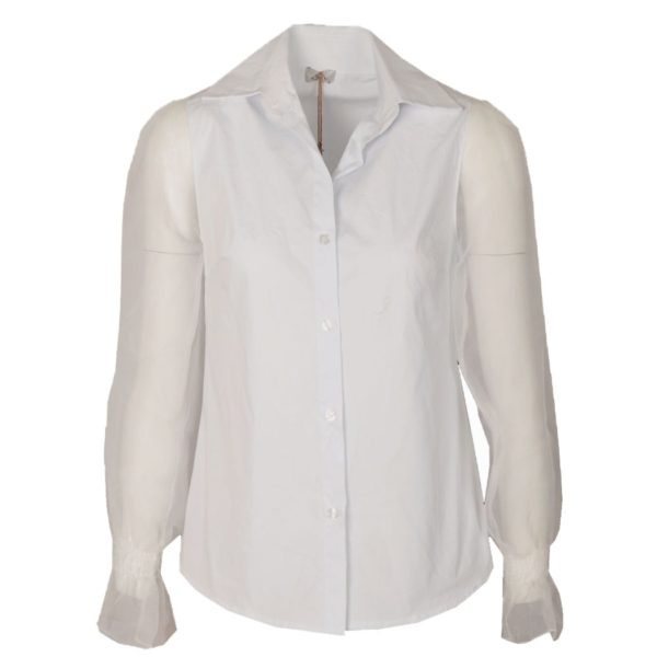 Organza sleeve shirt