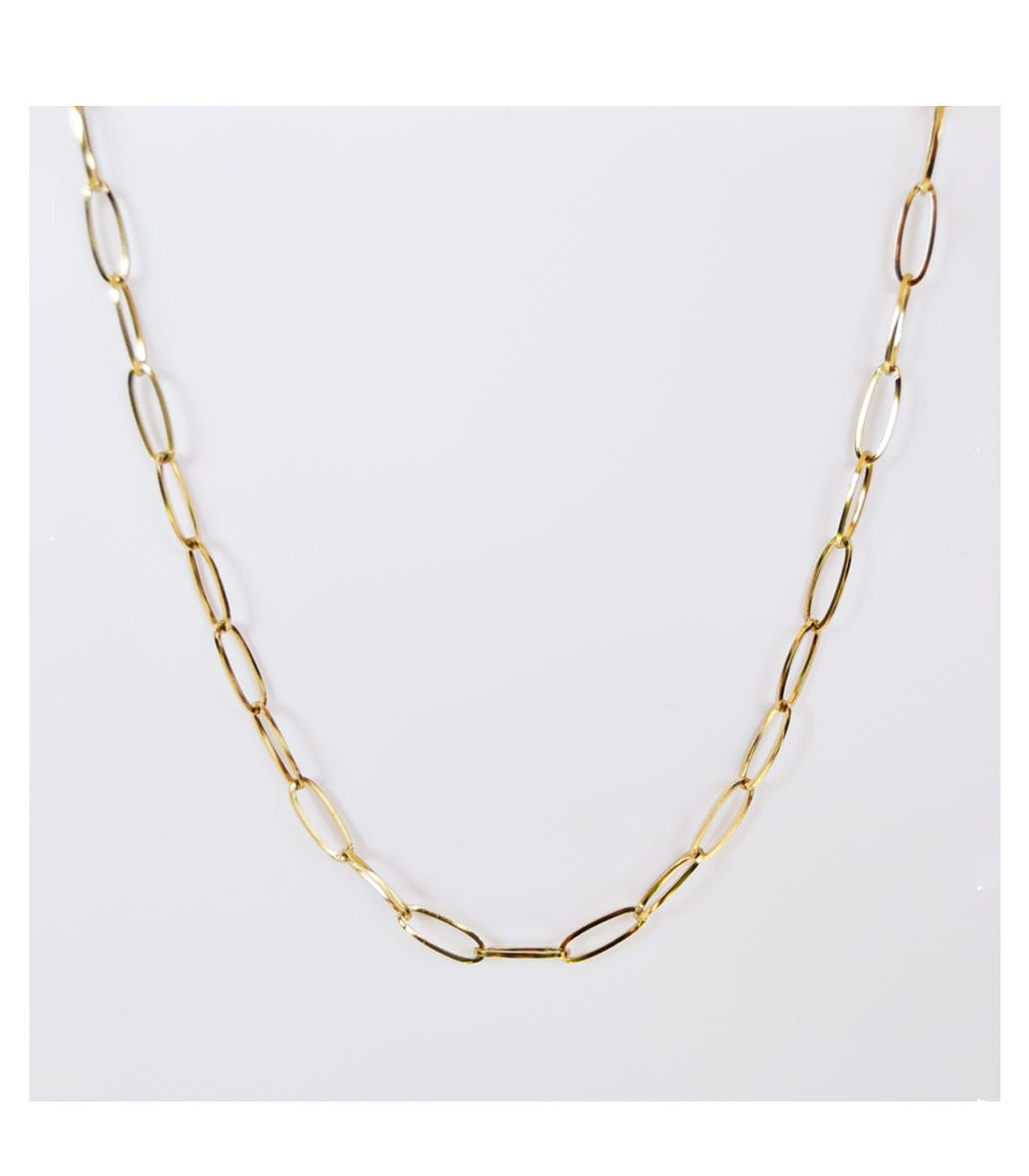 Basic oval link chain necklace