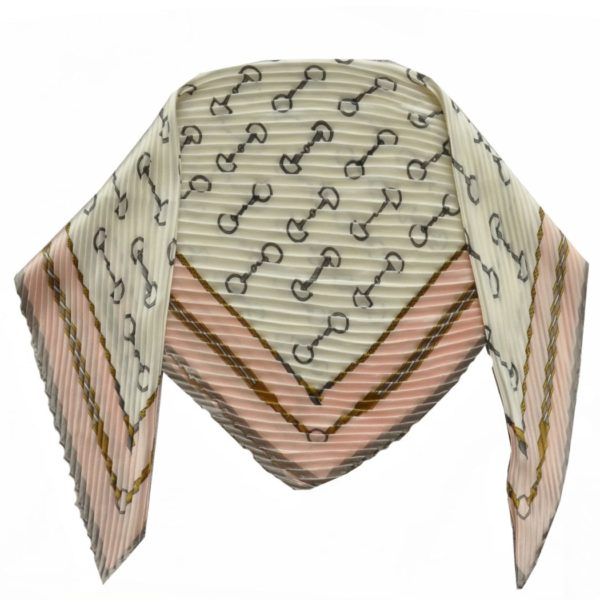 Pleated Gucci inspired scarf