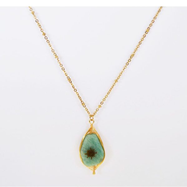 Fine chain precious stone necklace