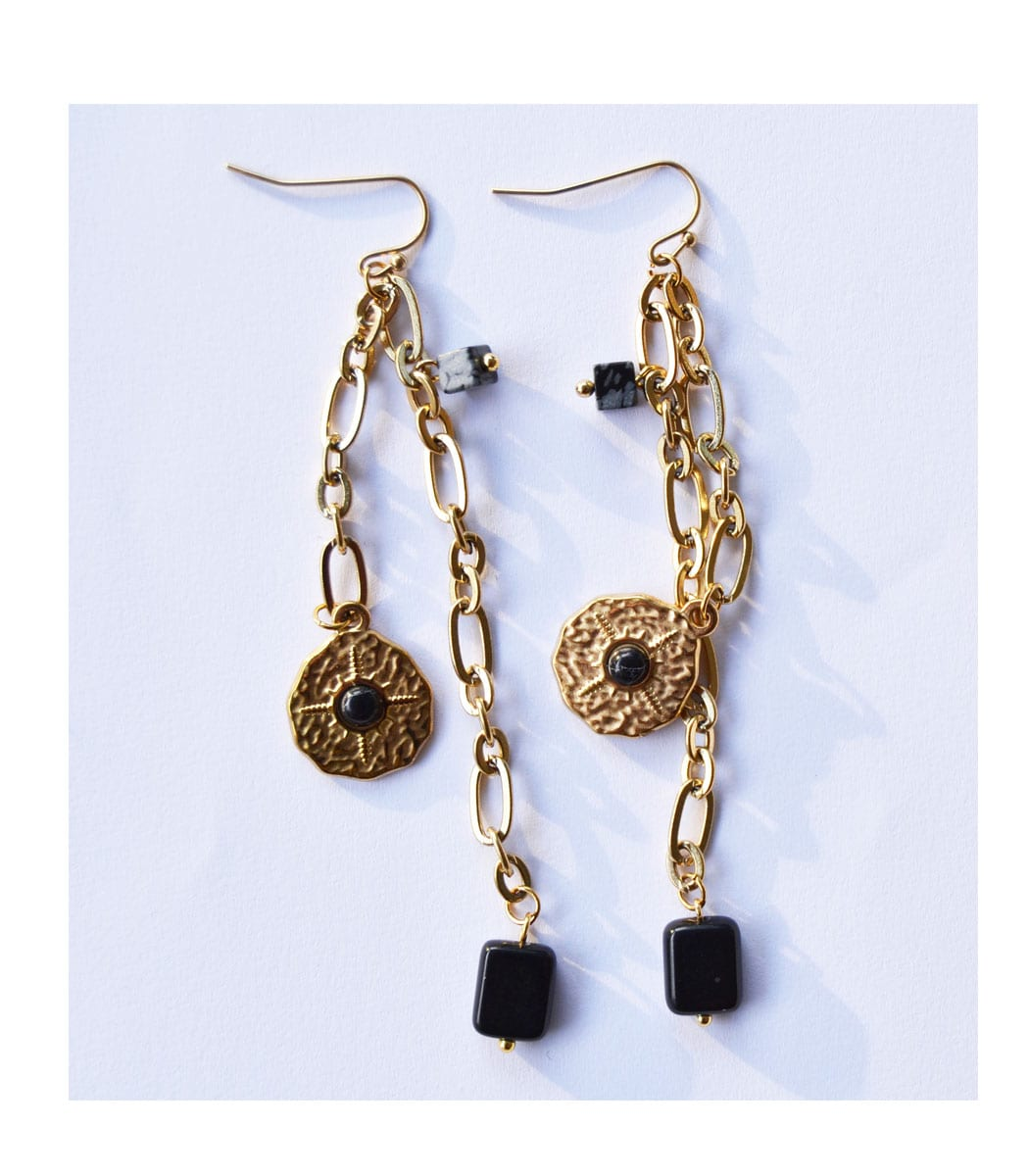 Chain long earrings