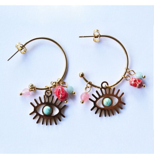 Hoop & eye earring