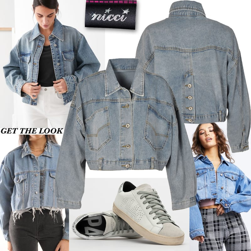 Boxy crop denim jacket