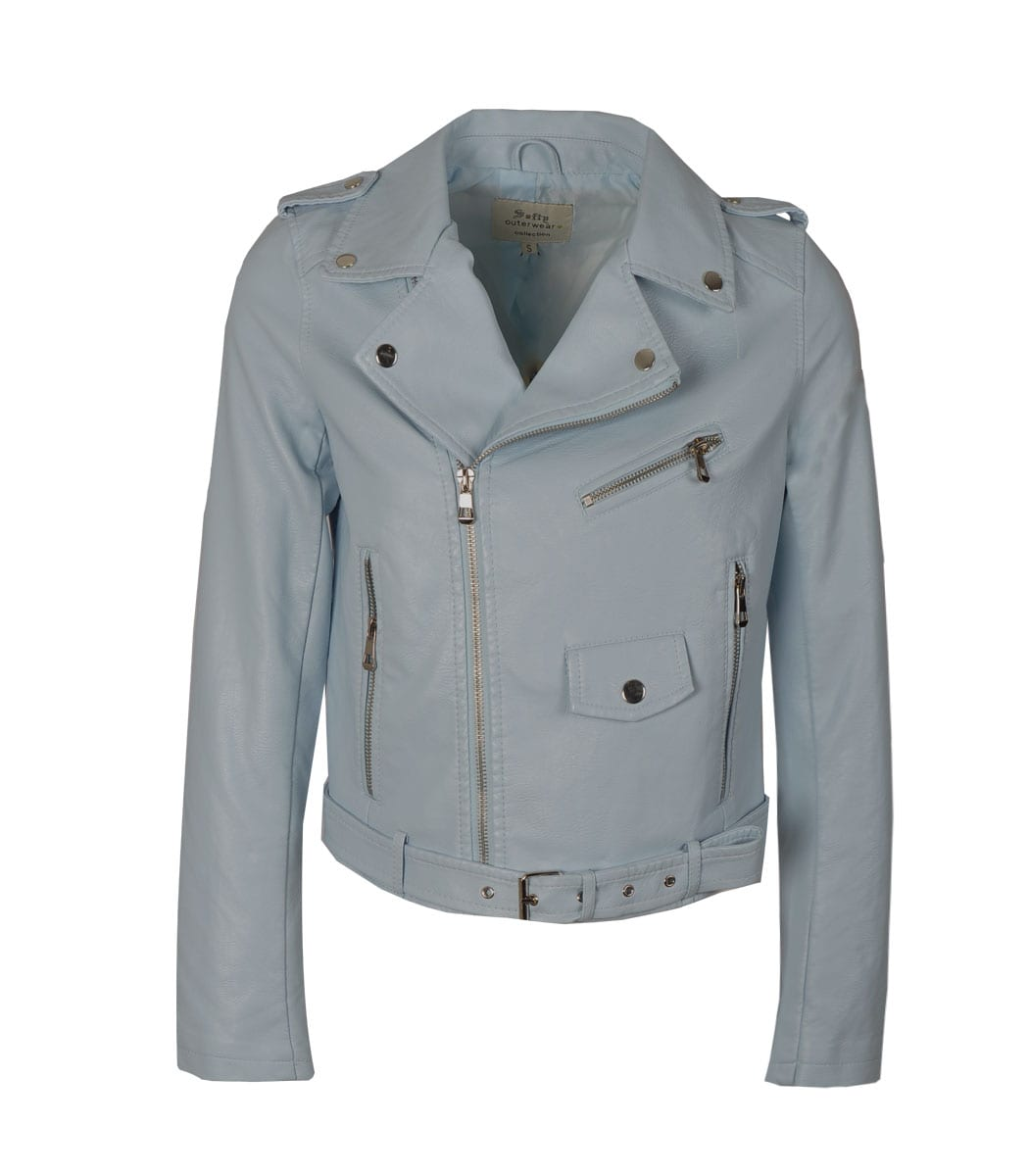 Belted zip pocket jacket
