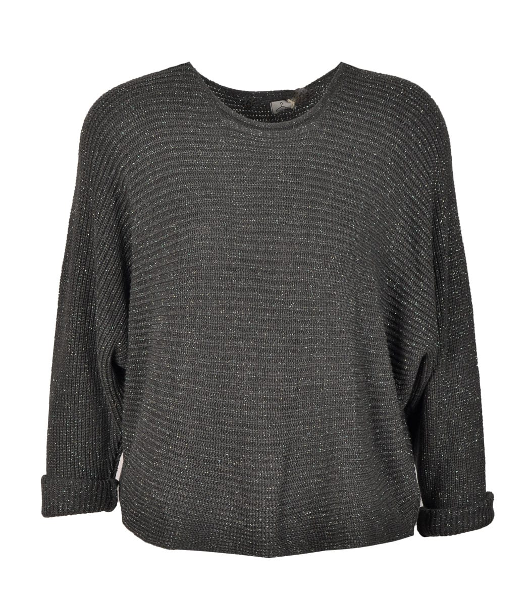 Batwing knit top