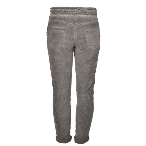 Suedette draw-string pants