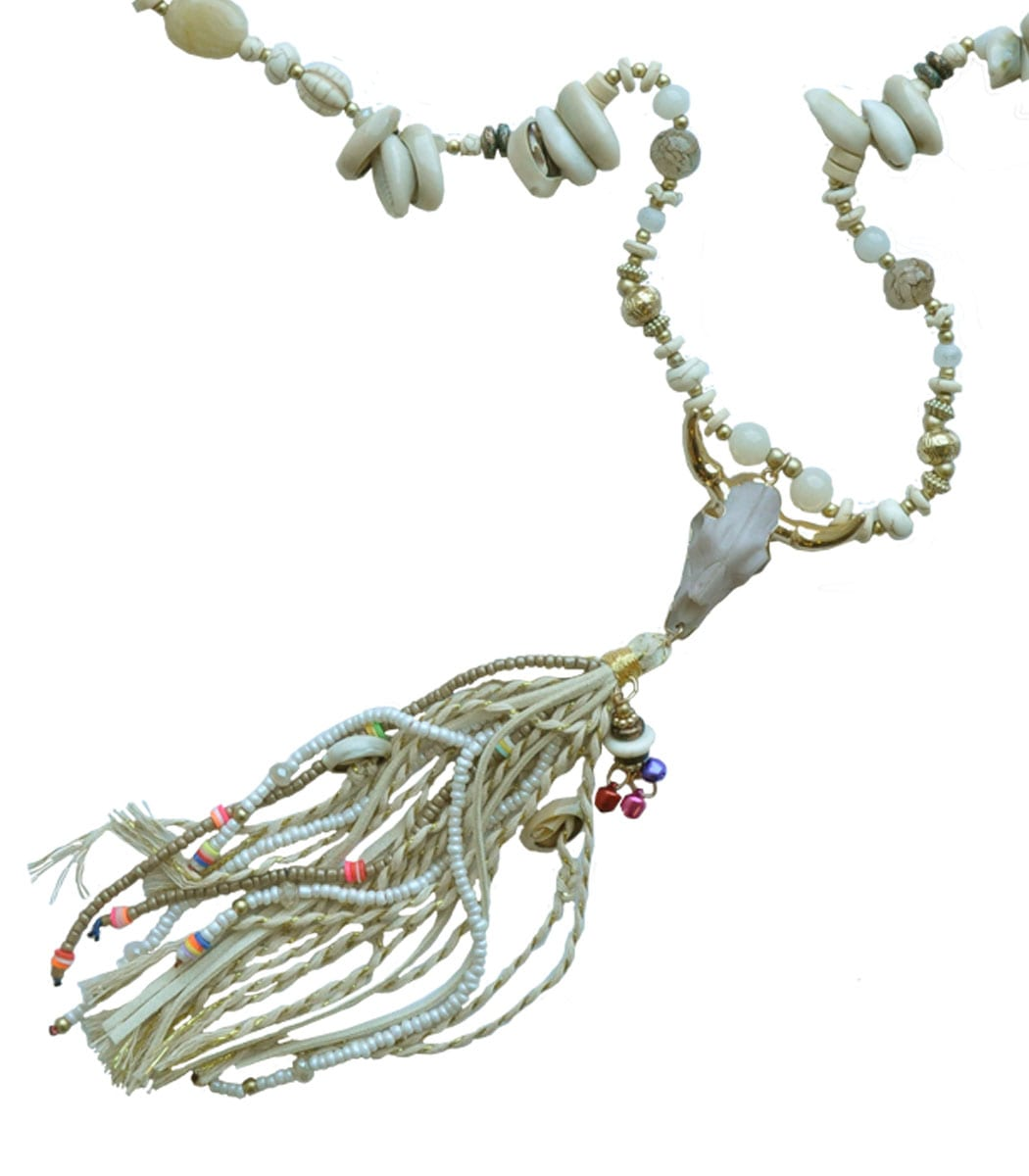Cow scull shell necklace