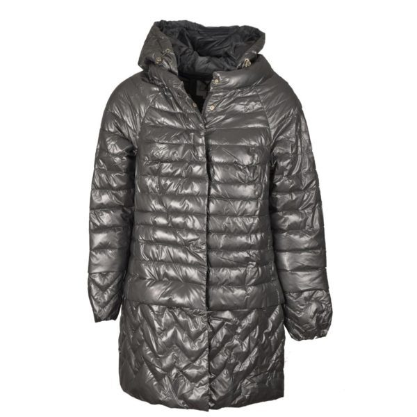 Quilted zig zag puff jacket