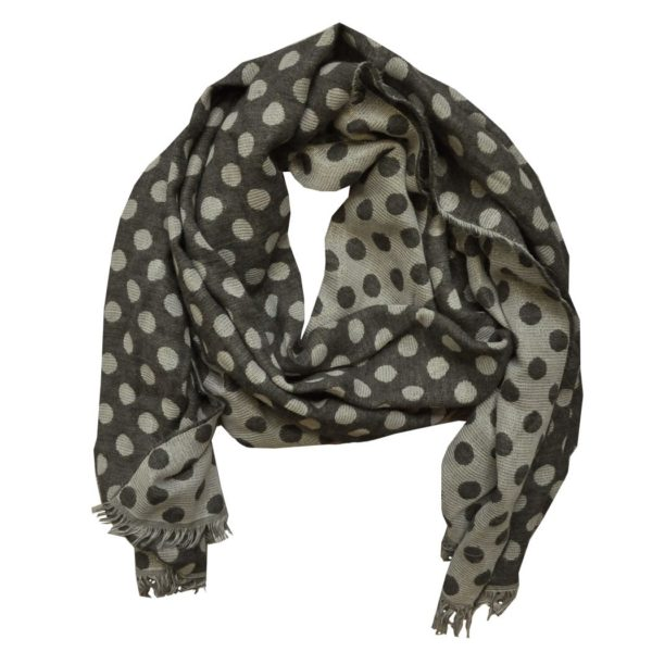 Spot print wooly scarf