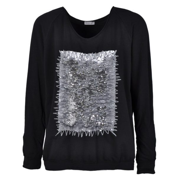 Sequin patch sweatshirt