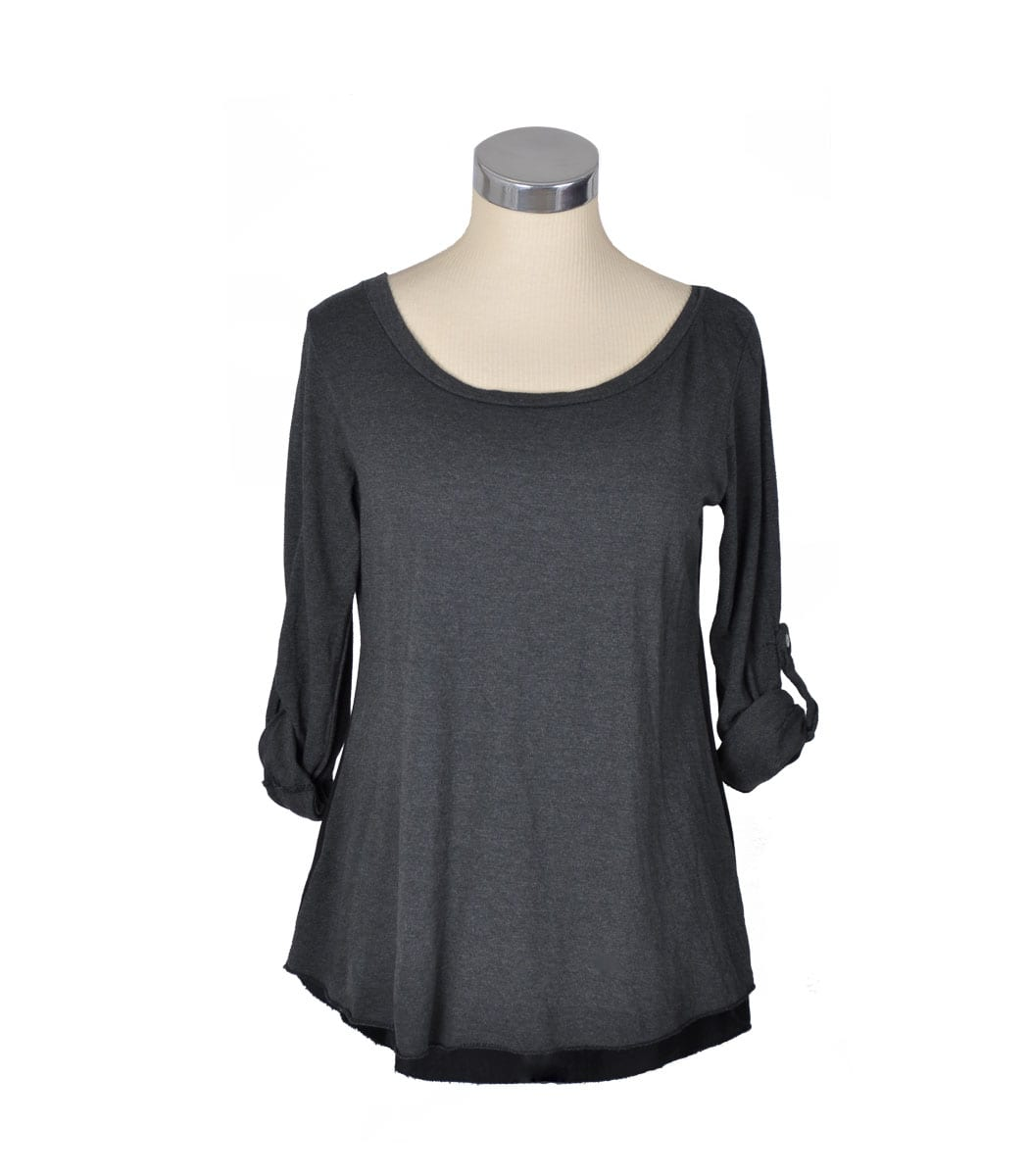 2-Textured  hi-lo top